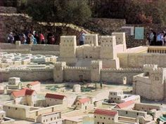 A Model of the The Second Temple  which stood on the Temple Mount in Jerusalem. It replaced the First Temple which was destroyed in 586 , when the Jewish nation was exiled to Babylon. According to the Bible, when the Jewish exiles returned to Jerusalem following a decree from Cyrus the Great (Ezra 1:1-4, 2 Ch. 36:22-23). Work was temporarily halted due to opposition and then  resumed under the Persian King Darius (Ezra 5) and was completed during the sixth year of his reign.