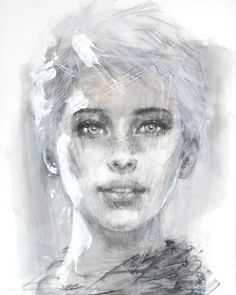 """Aïste"" by Christine Comyn - Acrylics and watercolour - Absolute Art Gallery"