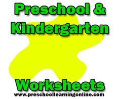 Preschool worksheets to teach preschoolers and kindergarten subjects with free printables. #worksheets #printables