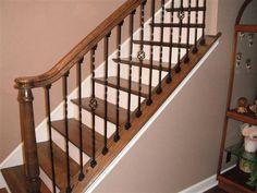 Best Knee Wall Stair Rail Oak Railing Oak Knee Wall Caps And 400 x 300