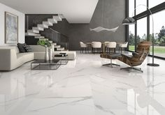 40 Stunning and Clean White Marble Floor Living Room Design - Salon Decor Clean Living Rooms, Living Room White, Living Room Colors, Living Room Designs, Kitchen Living, Floor Design, House Design, Marble Design Floor, Italian Marble Flooring