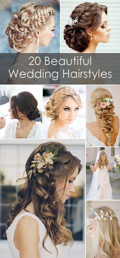 20 estilos de peinados para novias con cabello largo. #EstilosNovias