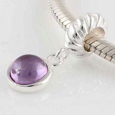 pandorforsales.com , Sterling Silver Pendant Flower purple Birthstone Pandora Charms ,pandora charms outlet