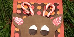 Candy Cane Reindeer Craft | Handmade Christmas Cards | Christmas Card Ideas