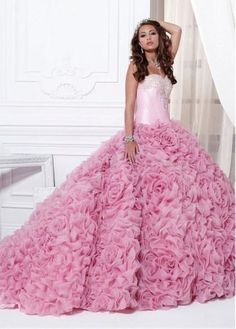 Ruffle-Organza-Bridal-Wedding-Ball-Prom-Quinceanera-Gown-Formal-Evening-Dress