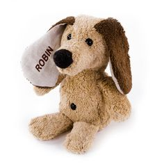 Stofftier Hund Robin individuell bestickt #personalisiert #bestickt #Geschenk