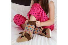 Dog - Fun for Feet Knitted Slipper Socks