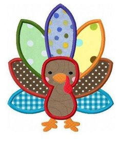 Image detail for -Thanksgiving turkey applique machine embroidery design