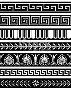 Ancient Greece Patterns royalty-free ancient greece patterns stock vector art & more images of ancient 4 Tattoo, Arm Band Tattoo, Mosaic Patterns, Pattern Art, Art Patterns, Abstract Pattern, Art And Illustration, Greece Tattoo, Greek Pattern