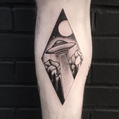 Custom ufo tattoo for Ross! Thanks for giving me a cool idea to play with I love…