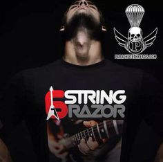 6 string razor 31 Short-Sleeve Unisex T-Shirt Shredded Shirt, Shoulder Taping, New T, Fabric Weights, Female Models, Short Sleeves, Unisex, Shawn Mendes, Axe