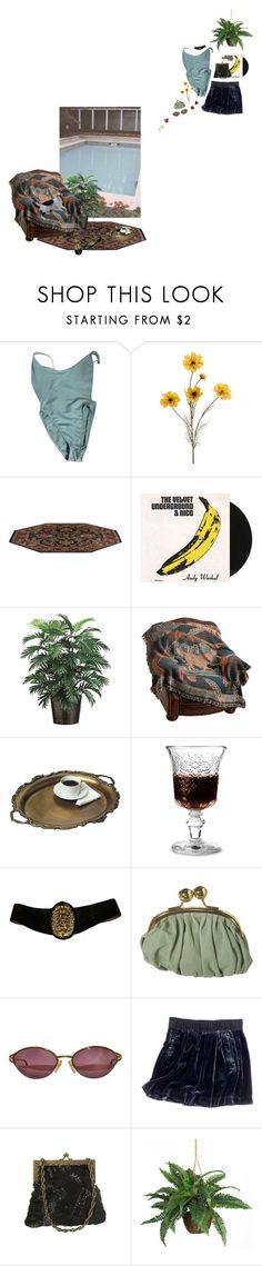 """swimming pool glimmering darling"" by softlet ❤ liked on Polyvore featuring American Apparel, Nico, La Rochère, Christian Dior, Madewell, Nearly Natural, lolita and nymphet"