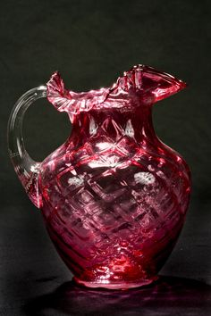 Fenton Cranberry Glass Pitcher