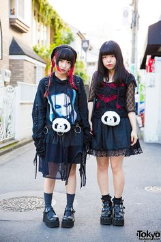 Harajuku Girls in All Black w/ Panda Pouches, Marilyn Manson, mon Lily & Nincompoop Capacity