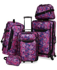 Tag Springfield III Printed Luggage Set, Created for Macy's Luggage & Backpacks - Luggage Sets - Macy's Luggage Backpack, Travel Luggage, Travel Bags, Prada Handbags, Luxury Handbags, Purses And Handbags, Leather Handbags, Best Carry On Luggage, Luggage Sets