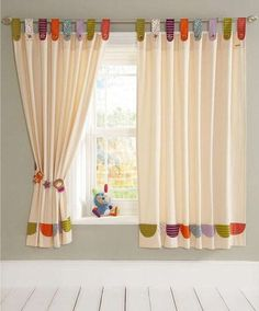 If you are wondering about kids curtain then here are some of the best kids room curtains ideas that you need to check out and also you can have them as well. - Kids Curtains - Ideas of Kids Curtains Curtains Childrens Room, Kids Room Curtains, Nursery Curtains, Cool Curtains, Colorful Curtains, Curtains With Blinds, Kids Bedroom, Bedroom Decor, Kitchen Curtains