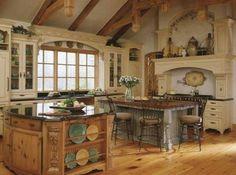 Old World Tuscan Kitchen Island