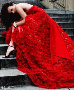 [ Wedding Dresses Trends Red Wedding Dress Hairs ] - Best Free Home Design Idea & Inspiration Strapless Dress Formal, Prom Dresses, Wedding Dresses, Dresses 2013, Dress Prom, Prom Dress Shopping, Red Gowns, Red Fashion, Fashion Photo