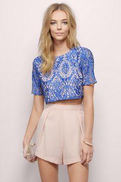 Sunset Lace Crop Top at Tobi.com #shoptobi