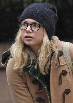 Michelle Williams in Moscot glasses. want these back in stock asap so i can order!