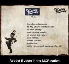 I pledge allegiance to My Chemical Romance <3
