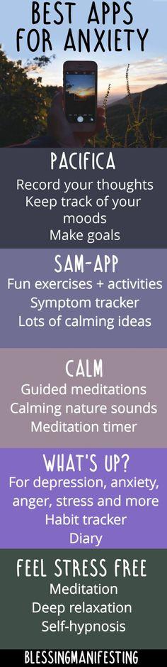 anxiety apps.  #anxiety #coping skills #mental health. www.dealwithmentalillness.com