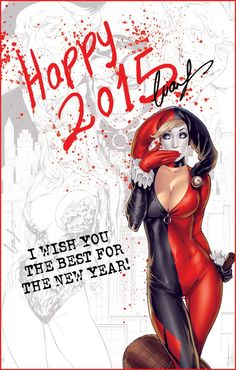 Harley Quinn - Happy 2015 by Elias Chatzoudis *