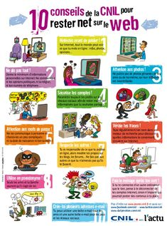 Here is my next lesson with - 10 conseils pour rester net sur le web Technology Posters, Digital Technology, Science And Technology, Ap French, Learn French, Web 2.0, Le Web, French Teacher, Teaching French
