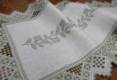 I really love this Hardanger with the centre of cross stitch...very beautiful