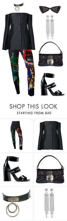 """Untitled #2149"" by lucyshenton ❤ liked on Polyvore featuring Versace, Gabriela Hearst, Fendi, Isabel Marant and Yves Saint Laurent"