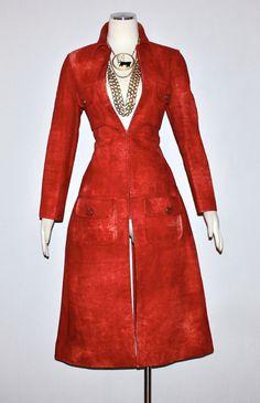 Vintage OSCAR de la RENTA Suede Coat Tie Dye Zip by StatedStyle, $925.00 ~ so great!