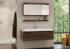 Modern bathroom with Vanico Maronyx's wall mount bath vanity / U Collection Beautiful Bathrooms, Modern Bathroom, Particle Wood, Resin Uses, Dishwashing Liquid, Plastic Sheets, Bathroom Renos, Kids Bath, Bath Vanities