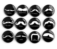 The mustaches...  (and only $10 at http://www.etsy.com/listing/86645596/mustaches-set-of-12-magnets-1-inch-black)