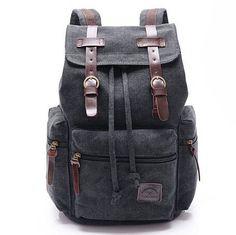 d351cdffef60 Canvas Men Backpack Korean Boy School Bags Large Laptop Male Backpack  Vintage Bagpack Travel Bag Book bags mochilas sac a dos