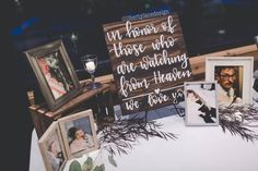 Memory table sign wood wedding heaven sign rustic wedding decor memorial sign wedding in honor of those in heaven memory sign wedding 20 extraordinary rustic wedding decorations that you can make inspiration Lilac Wedding, Diy Wedding, Wedding Colors, Rustic Wedding, Dream Wedding, Wedding Day, Perfect Wedding, Trendy Wedding, Wedding Makeup