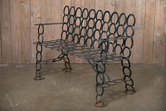 Vintage Iron Horse Shoe Bench - Mecox Gardens