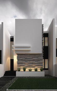 Modern Home Minimalis Cubist Complex Design Ideas in Kuwaiti Residences Design Exterior, Facade Design, Modern Exterior, House Front Design, Modern House Design, Contemporary Design, Facade House, House Facades, Minimalist Home