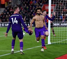 Late goals by Mohamed Salah and Jordan Henderson earned Liverpool a crucial victory at Southampton to move them back to the top of the Premier League on Friday. Liverpool Players, Liverpool Football Club, Liverpool Fc, Premier League Goals, Premier League Champions, Best Football Team, Sport Football, Workouts For Teens, Pep Guardiola
