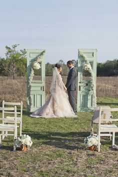 Doors as a wedding backdrop | Unique Wedding Backdrop Ideas - Part 1