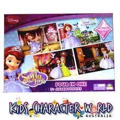 Sofia the First 4 x 30 Piece Jigsaw Puzzle Box $14.95 (eBay Store: kidscharacterworld2013 email: kidscharacterworld@live.com.au) http://www.ebay.com.au/itm/Princess-Sofia-Jigsaw-Puzzles-4-x-30-Pc-Tray-Crown-New-Kids-Girls-Licensed-/181455045830?pt=AU_Toys_Hobbies_Puzzles&hash=item2a3f9044c6