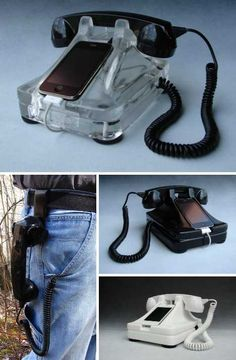 Accesorios iPhone que combinan el pasado y presente. I'm leaving that there cause I knew what it meant and I'm proud of it. Iphone Accessories, Desk Accessories, Tech Gadgets, Cool Gadgets, Apple Iphone, Accessoires Iphone, Marketing Technology, Apple Products, Looks Cool