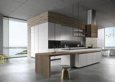 LOOK SNAIDERO Progettata dall'architetto Michele Marcon, Look rappresenta una cucina contemporanea e senza tempo, un progetto taylor made concepito per elementi progettuali di grande personalità