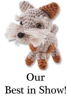 Did you enjoy Crufts at the weekend? We have our own Best in Show that you can enjoy too! Take a look at our mini wool crochet craft kits. Craft Kits, Craft Supplies, Craft Ideas, Adult Crafts, Crochet Crafts, Best Gifts, Teddy Bear, Wool, Knitting