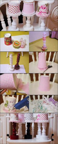 DIY Cute Decoration Desk Lamps from Recycled Containers | iCreativeIdeas.com Like Us on Facebook == https://www.facebook.com/icreativeideas