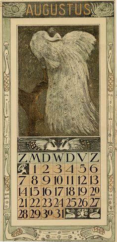 Theodoor van Hoytema, calendar 1910 August