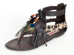 Collage Embellished Thong Sandals,