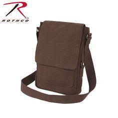 Rothco Vintage Brown Canvas Military Tech Bag