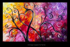 Funky Love Tree (Doubles Painting) - Jackie Schon, The  Paint Bar