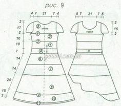 Приталенное платье крючком. Схемы, описание вязания