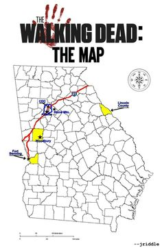 They didn't put Hershel's farm or the prison on this map.